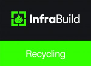 GFG022 Infrabuild Logos Horizontal CMYK Reversed RECYCLING