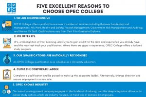 FIVE EXCELLENT REASONS TO CHOOSE OPEC COLLEGE INFOGRAPHIC final