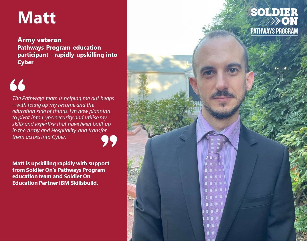 Matt Education Soldier On Pathways Program education support